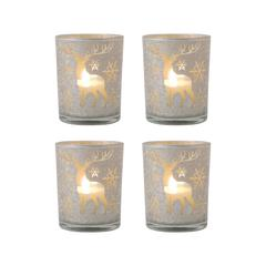 Reindeer Set of 4 Pillar Holders