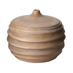 Lazy Susan Terraced Wood Jar - Sm