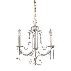 ELK lighting Tambridge 3 Light Chandelier In Antique Silver