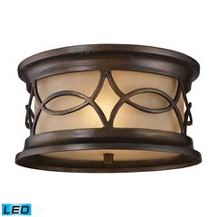 Burlington Junction 2 Light Outdoor LED Flush Mount In Hazelnut Bronze