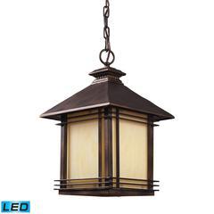 ELK lighting Blackwell 1 Light Outdoor LED Pendant In Hazlenut Bronze