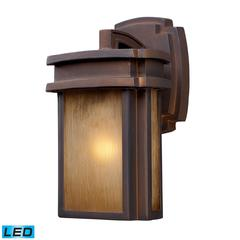 ELK lighting Sedona 1 Light Outdoor LED Wall Sconce In Clay Bronze