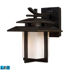 Kanso 1 Light Outdoor LED Sconce In Hazelnut Bronze