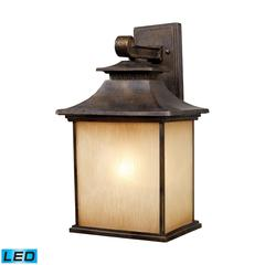 ELK lighting San Gabriel 1 Light Outdoor LED Sconce In Hazelnut Bronze