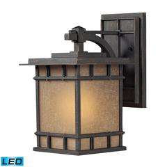 ELK lighting Newlton 1 Light LED Outdoor Sconce In Weathered Charcoal