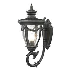 ELK lighting Anise 1 Light Outdoor Sconce In Textured Matte Black