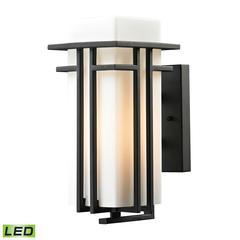 ELK lighting Croftwell 1 Light Outdoor LED Sconce In Textured Matte Black