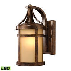 ELK lighting Winona 1 Light Outdoor LED Sconce In Hazelnut Bronze