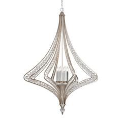 ELK lighting Ventoux 8 Light Chandelier In Satin Silver And Clear Crystal