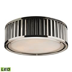 ELK lighting Linden Manor 3 Light LED Flushmount In Polished Nickel