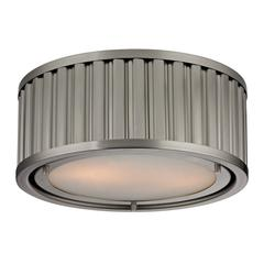 Linden Manor 2 Light Flushmount In Brushed Nickel