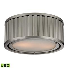 ELK lighting Linden Manor 2 Light LED Flushmount In Brushed Nickel