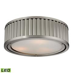 ELK lighting Linden Manor 3 Light LED Flushmount In Brushed Nickel