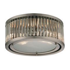 ELK lighting Linden Manor 2 Light Flushmount In Crystal And Brushed Nickel