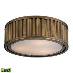 ELK lighting Linden Manor 3 Light LED Flushmount In Aged Brass