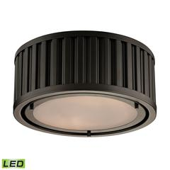 ELK lighting Linden Manor 2 Light LED Flushmount In Oil Rubbed Bronze
