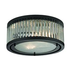 ELK lighting Linden Manor 2 Light Flushmount In Crystal And Oil Rubbed Bronze
