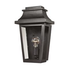 ELK lighting Covina 1 Light Outdoor Sconce In Matte Black