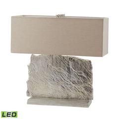 "24"" Slate Slab LED Table Lamp in Nickel"