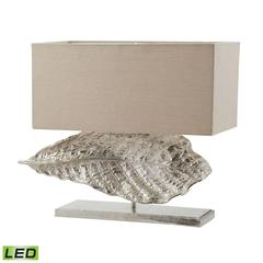 "Dimond 21"" Wide Leaf LED Table Lamp in Nickel"