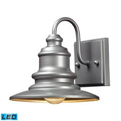 Marina 1 Light Outdoor LED Sconce In Matte Silver