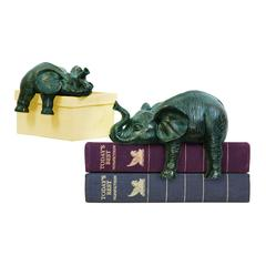 Sterling Set Of 2 Sprawling Elephants