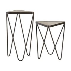 Sterling Set of 2 Angular Side Tables