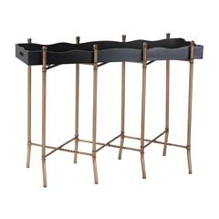 Sterling Black & Gold Tray Style Console