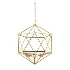 Sterling Angular Study Pillar Light Pendant