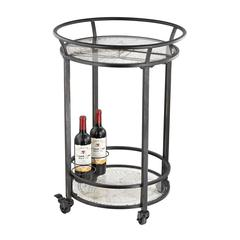 Sterling World Map Bar Cart