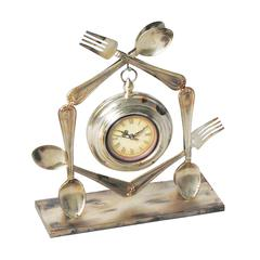 Sterling Utensil Clock ( 1- Aa Battery Not Included)