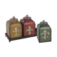 Sterling Set of 3 Fleur De Lis Boxes