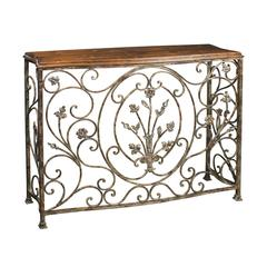 Sterling Floral Scroll Console