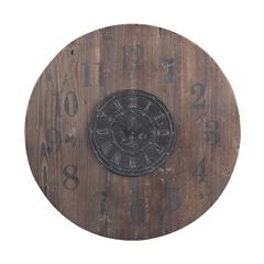 "Sterling 30"" Wooden Clock"