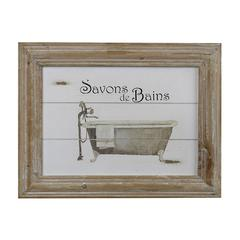 Sterling Savon De Bains Picture In Wooden Frame