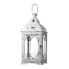 Sterling White Hurricane Lantern