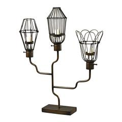 Iron Caged Bulb Candle Holder