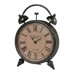 Sterling Audibon Metal Reproduction Desk Clock By
