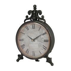 Sterling Arkle Reproduction Metal Desk Clock By