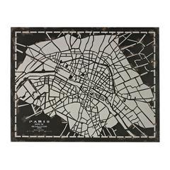 City Map-Laser Cut Map Of Paris Circa 1790