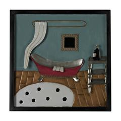 Bathroom Scene-Bathroom Scene Metal Wall Décor