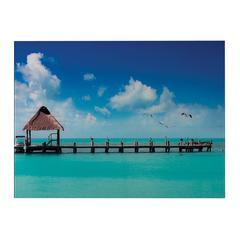 Sterling Maldives-Maldives Scene Printed On Glass