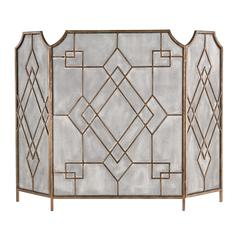 Sterling Diamond Iron Work Fire screen
