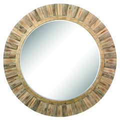 Lazy Susan Oversized Round Wicker Mirror