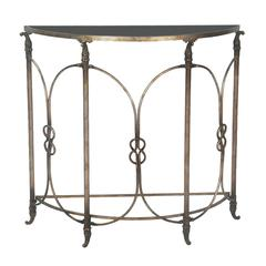 Sterling Bordeaux Demi Table