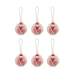 Beaded Ornaments Set - Round