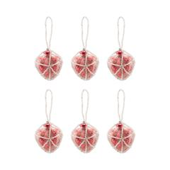 Beaded Ornaments Set - Red Heart