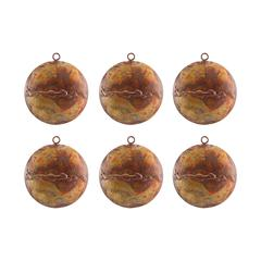 Medallion Set of 6 Ornaments