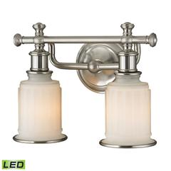 ELK lighting Acadia 2 Light LED Vanity In Brushed Nickel