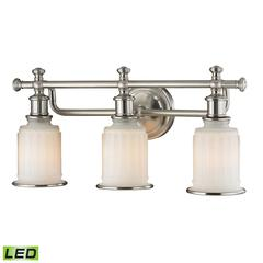 Acadia 3 Light LED Vanity In Brushed Nickel